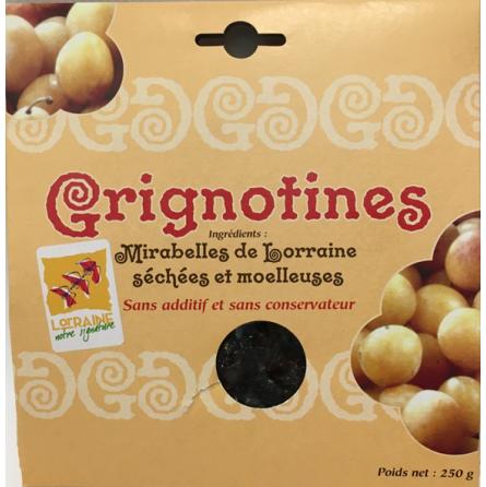 Grignotines (mirabelles séchées)