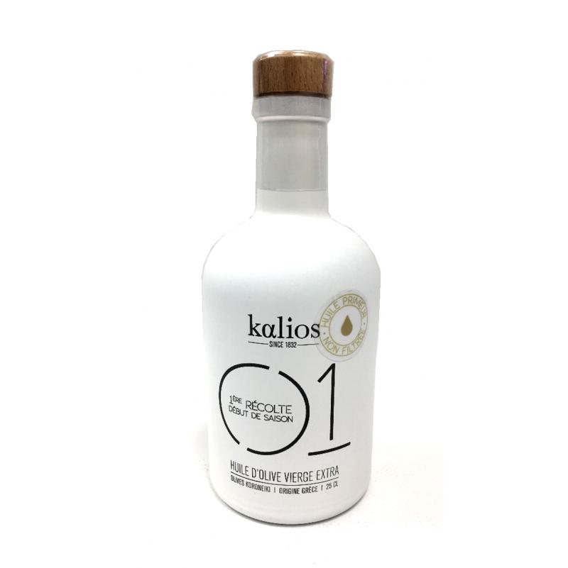 Huile d'Olive Vierge Extra Kalios N°1 - Primeur Non Filtrée