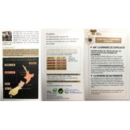 Dépliant Miel de Manuka IAA18+ de Nouvelle Zelande