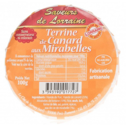 Terrine de Canard aux Mirabelles